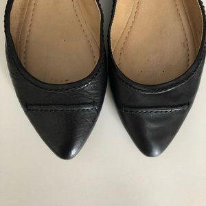 FRYE - Olive Seam Black Ballet Flats